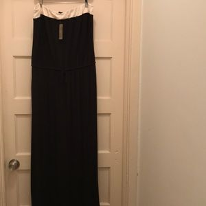 J Crew strapless, knit maxi dress